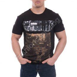 Модерна мъжка тениска с щампа и надпис NYC