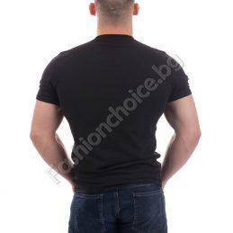 Мъжка тениска с цветна щампа в черно