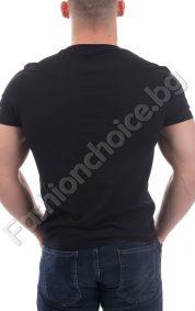 Изчистена мъжка тениска с къс ръкав и надпис ESCAPE