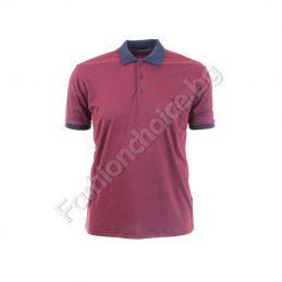 Мъжка макси блуза с якичка в меланжиран десен
