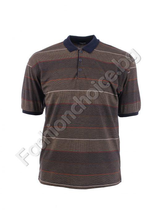 Мъжка блуза на райе в два цвята/ 3XL, 4XL, 5XL, 6XL/