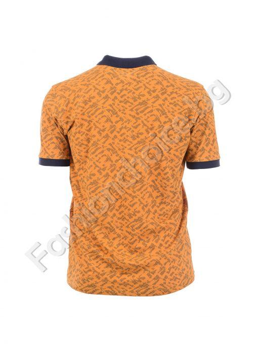 Интересна мъжка макси блуза с копчета и яка в четири цвята