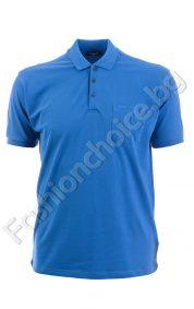 Изчистена мъжка блуза с джобче в големи размери
