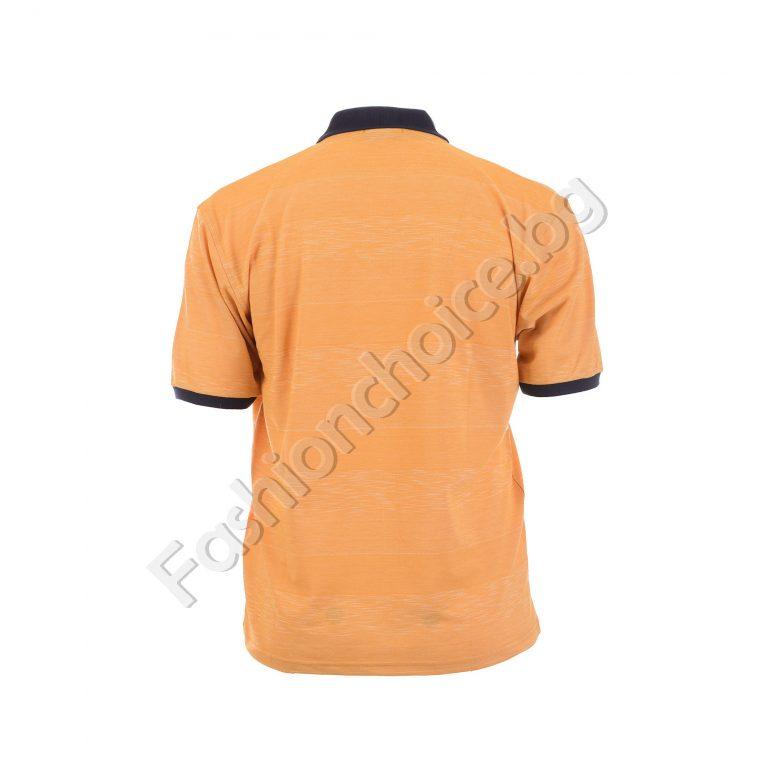 Мъжка макси блузка с различна якичка в два десена