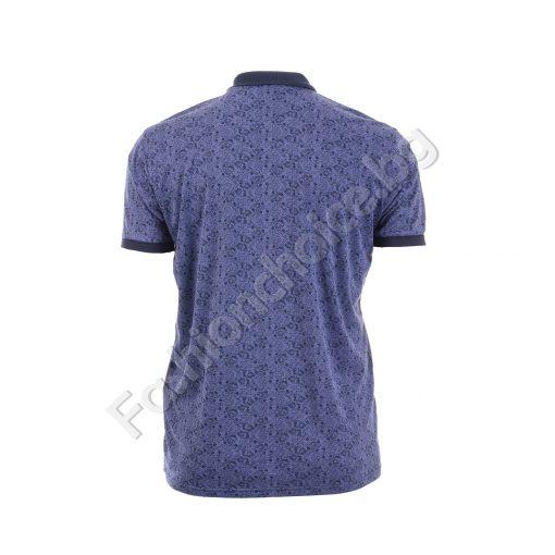 Мъжка макси блуза с копче и яка в модерна цветна щампа