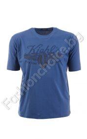 Черна мъжка тениска с щампа в големи размери