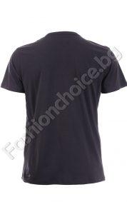 Мъжка тениска с щампа череп и надпис FIRETRAP