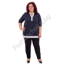 Шикозна дамска макси риза на модерни точки /макси размери/