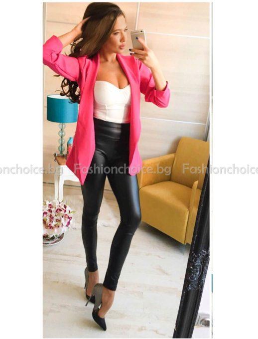 Изчистено вталено дамско сако в модерни цветове