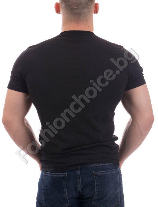 Уникална мъжка блуза в черно /S- 3XL/