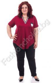Модна дамска блузка в четири десена/ макси размери/