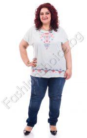 Оригинална дамска блуза с красива шевица/3XL, 4XL/