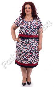 Очарователна макси рокля от ефирен шифон на точки