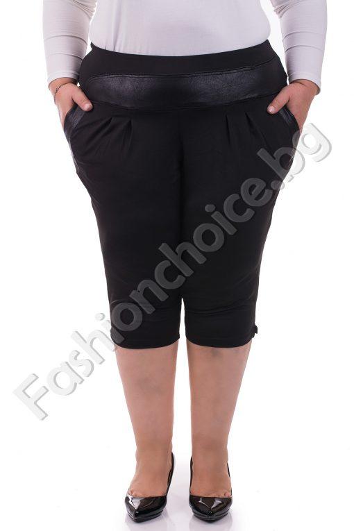 Летен дамски макси клин-панталон от фина материя 3/4 дължина