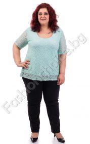 Фантастична дантелена макси блуза в пет прекрасни нюанса