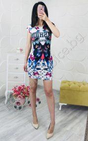 Свежа дамска рокля с пеперуди за лятото в два цвята
