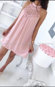 Уникален модел дамска рокличка с дантела