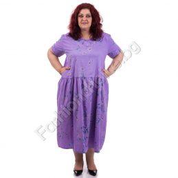 Практична макси рокля в цветен свеж принт