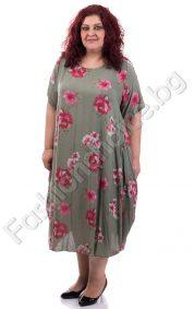 Цветна макси рокля в три прекрасни нюанса