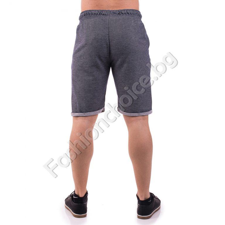 Къси изчистени памучни панталони с маншет /M- 3XL/