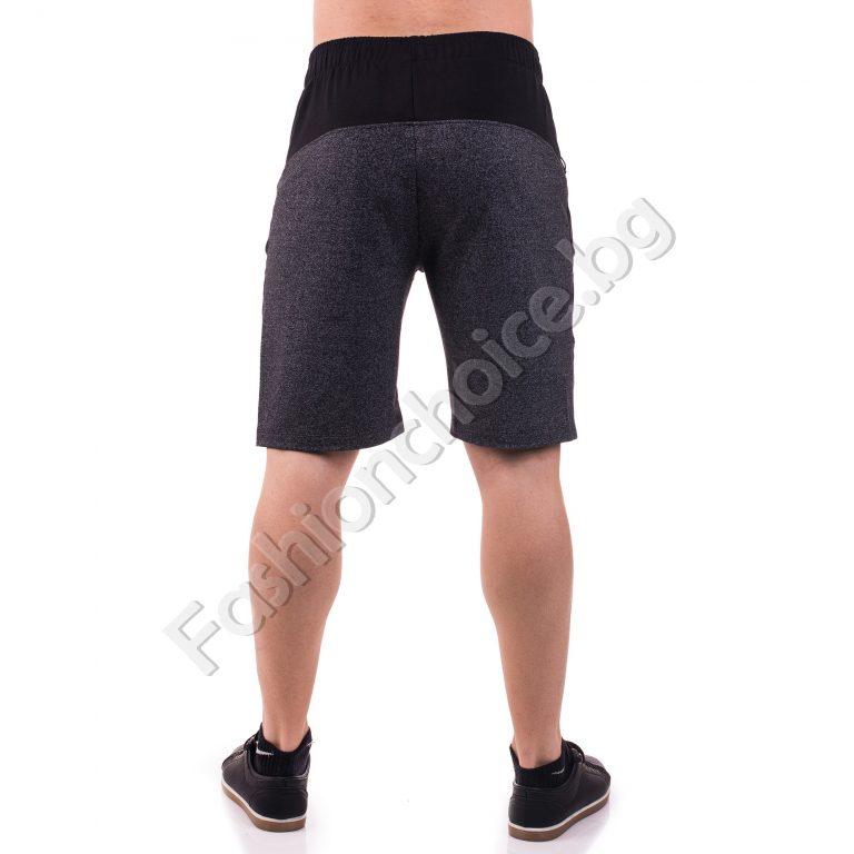 Мъжки спортни 3/4 панталони с интересен дизайн