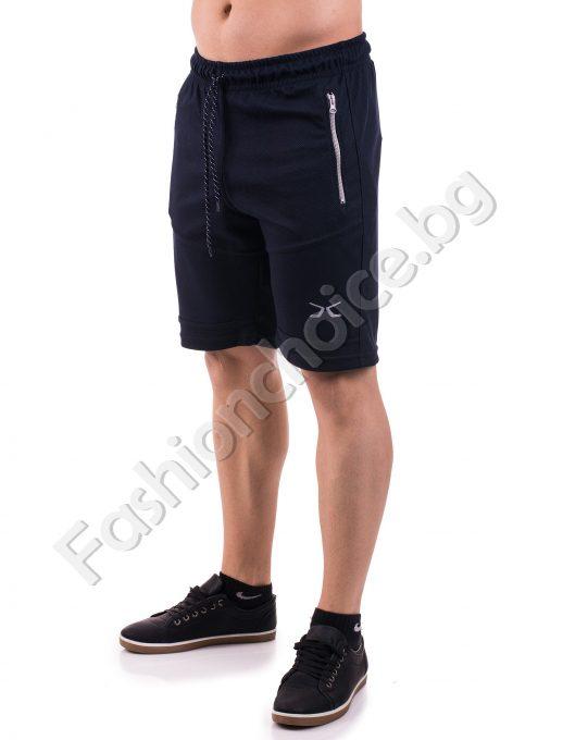 Мъжки меки панталонки с джобчета в три десена