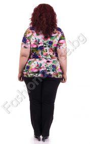 Уникална дамска макси блузка във флорални мотиви