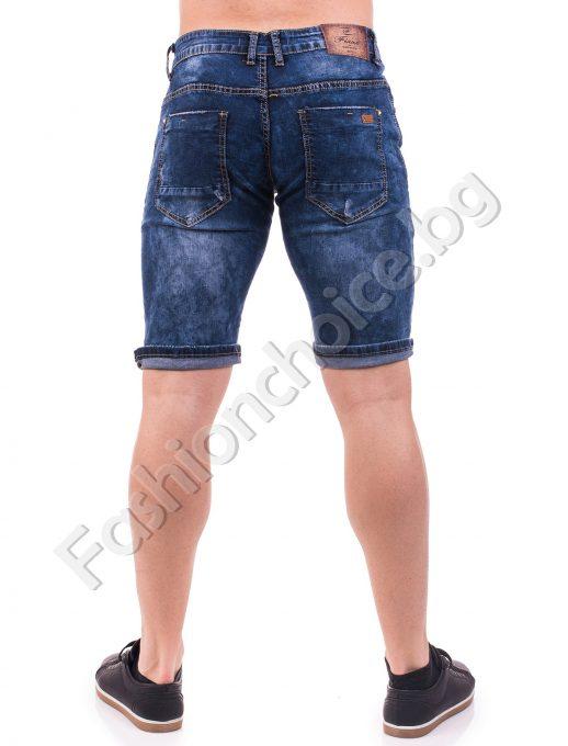 Комфортни мъжки панталонки от деним с надран ефект