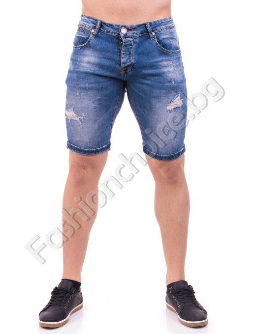 Модерни мъжки дънкови панталонки 3/4 дължина