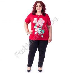 Цветна и комфортна макси блуза с букет от рози