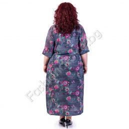 Цветна и лека макси рокля с копченца