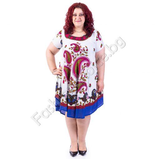 Очарователна разкроена макси рокля в свеж летен стил