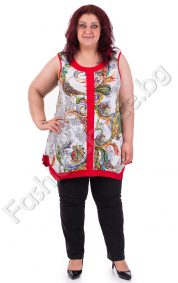 Цветен дамски потник с прекрасен принт/ макси размери/