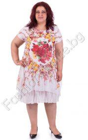 Зашеметяваща макси рокля с червени или лилави цветя