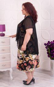 Стилна макси рокля в цветен принт с 3D ефект
