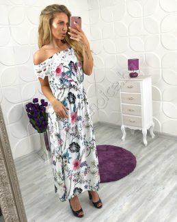 Женствена нежна рокля на цветя в прекрасни цветове