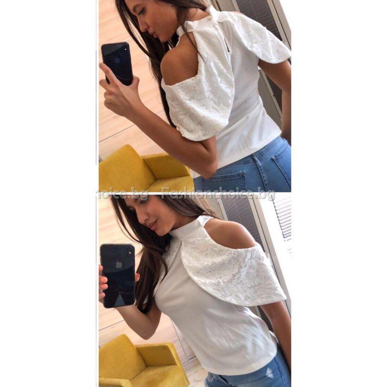 Уникален модел дамска блуза в три летни цвята