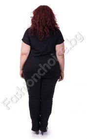 Интересна дамска макси блуза с кокетна щампа