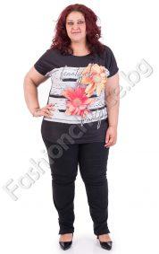 Великолепна макси блуза с прекрасни слънчеви цветя