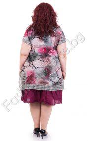 Дамска макси рокля в актуален летен принт