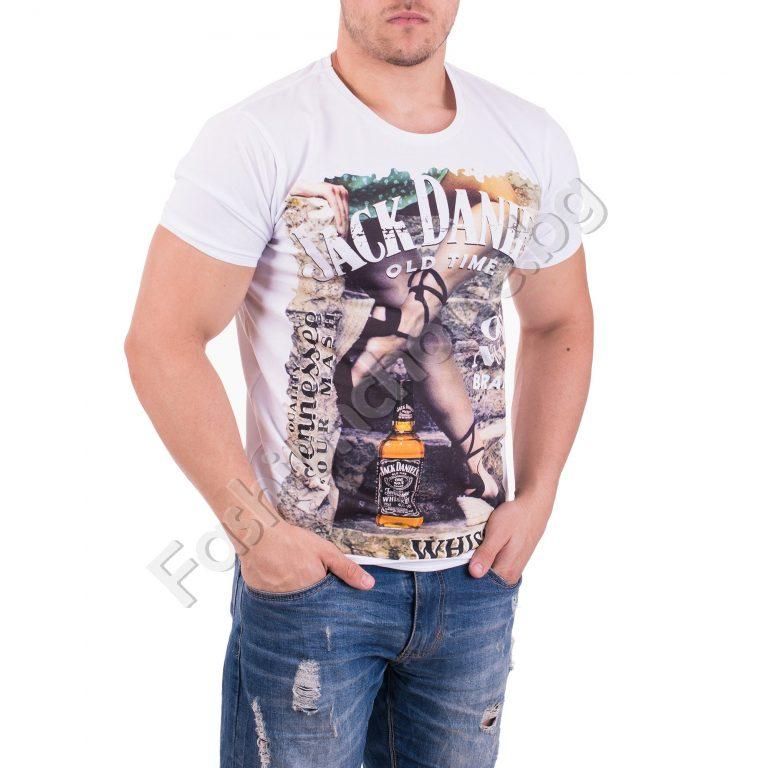 Атрактивна мъжка тениска с интересна щампа в три десена