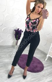Актуален дамски панталон в черно с модерна кройка