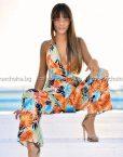 Летен дълъг дамски гащеризон в сладки цветове