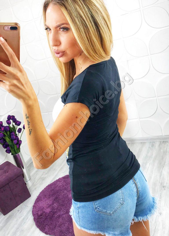 Интересна дамска блузка с романтична щампа