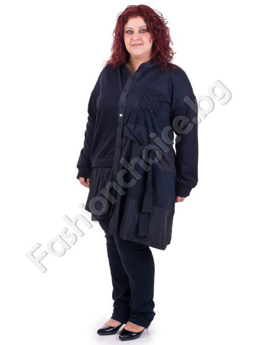Бутиков дамски жакет с асиметрична кройка / макси размер/Бутиков дамски жакет с асиметрична кройка / макси размер/