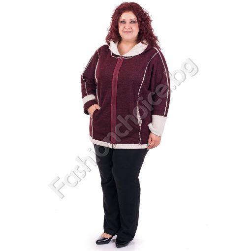 Топло дамско макси палто с качулка в два цвята