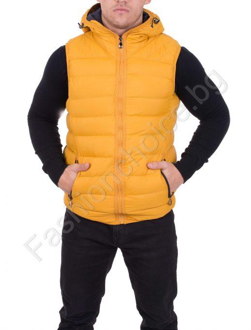 Невероятна мъжка грейка с качулка в топли цветове