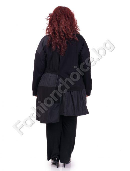 Бутиков дамски жакет с асиметрична кройка / макси размер/