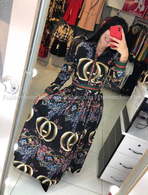 Уникален модел дълга дамска рокля