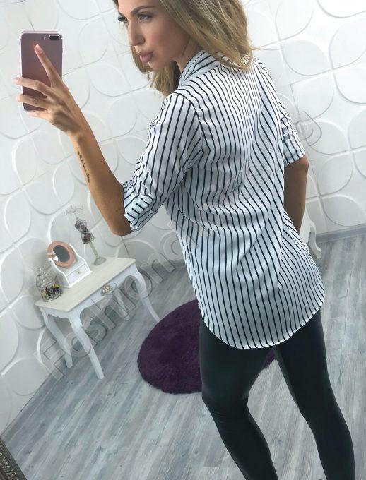 Модерна дамска риза на елегантно райе